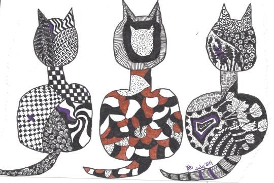 Trois Chats pour l'anniversaire de Coco