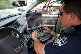 cop in car