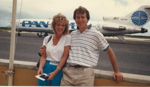 Flying into Turks & Caicos 1987