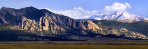 Flatirons Looking North to Mt. Meeker and Long's Peak