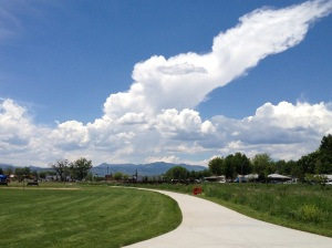 Thunderheads on Ralston Creek Trail